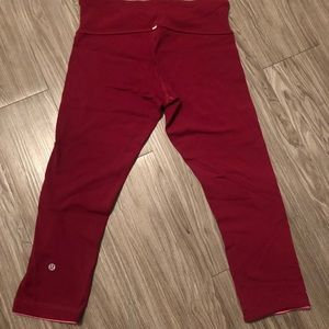 Lululemon Reversible Pants Wine Pink Sz 6